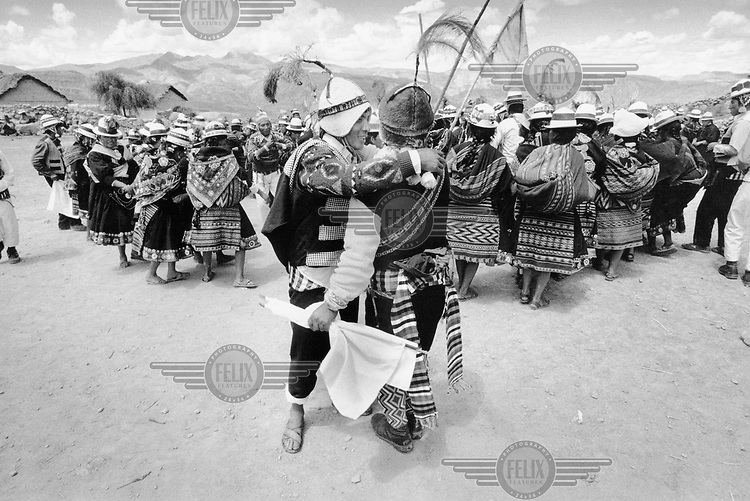 Ten Aymara Indian communities gather each year for carnival celebrations in Northern Potosi Province.