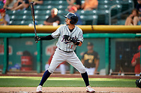 Ildemaro Vargas (1) of the Reno Aces bats against the Salt Lake Bees in Pacific Coast League action at Smith's Ballpark on June 15, 2017 in Salt Lake City, Utah. The Aces defeated the Bees 13-5. (Stephen Smith/Four Seam Images)