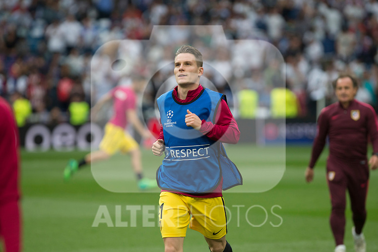 Kevin Gameiro of Atletico de Madrid  during the match of Champions League between Real Madrid and Atletico de Madrid at Santiago Bernabeu Stadium  in Madrid, Spain. May 02, 2017. (ALTERPHOTOS/Rodrigo Jimenez)