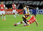 Con anotación de Yair Arrechea, Independiente Santa Fe se impuso 1 – 0 ante el Deportes Tolima, en compromiso adelantado de la fecha 14 celebrado este martes por la noche en el estadio Nemesio Camacho El Campín de la fría capital colombiana.
