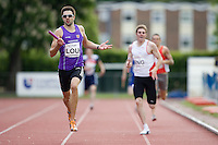 18 MAY 2008 - LOUGHBOROUGH, UK - Martyn Rooney - 4 x 400m relay - Loughborough International Athletics (PHOTO (C) NIGEL FARROW)