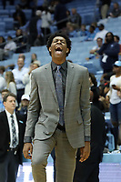 CHAPEL HILL, NC - NOVEMBER 01: Sterling Manley #21 of the University of North Carolina during a game between Winston-Salem State University and University of North Carolina at Dean E. Smith Center on November 01, 2019 in Chapel Hill, North Carolina.