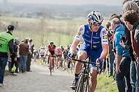 Yves Lampaert (BEL/QuickStep Floors) on top of the Paterberg<br /> <br /> 72nd Dwars Door Vlaanderen (1.UWT)<br /> 1day race: Roeselare &rsaquo; Waregem BEL (203.4km)