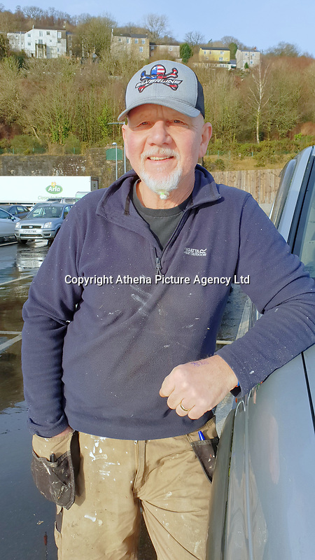 STORY BY KARL WEST<br /> Local resident Dave Keane at the carpark of the ASDA store in Ystalyfera, south Wales, which has been built on land owned by a Council in England. Wednesday 23 January 2019