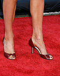 """Actress Anna Walton 's shoes at the 2008 Los Angeles Film Festival's """"HellBoy: II The Golden Army"""" Premiere at the Mann Village Westwood Theater on June 28, 2008 in Westwood, California."""