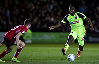 Bolton Wanderers' Josh Emmanuel competing with Lincoln City's Conor Coventry (left) <br /> <br /> Photographer Andrew Kearns/CameraSport<br /> <br /> The EFL Sky Bet League One - Lincoln City v Bolton Wanderers - Tuesday 14th January 2020  - LNER Stadium - Lincoln<br /> <br /> World Copyright © 2020 CameraSport. All rights reserved. 43 Linden Ave. Countesthorpe. Leicester. England. LE8 5PG - Tel: +44 (0) 116 277 4147 - admin@camerasport.com - www.camerasport.com
