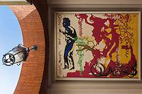 """France, Haute-Garonne (31), Toulouse,   place du Capitole, Peinture """"Nougaro"""" de Raymond Moretti dans la Galerie du Capitole // France, Haute Garonne, Toulouse, Capitole square, Painting """"Nougaro"""" by Raymond Moretti in the Gallery of the Capito [Non destiné à un usage publicitaire - Not intended for an advertising use]"""