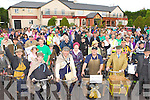 The crowd gather at the start of the Irish Motor Neuron Disease cycle in Darby O'Gills Killarney on Sunday..