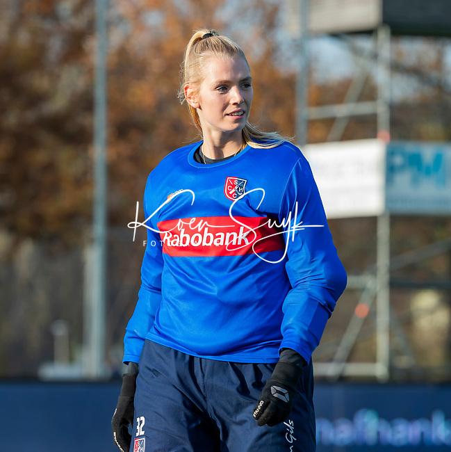 AMSTELVEEN - goalkeeper Alexandra Heerbaart (SCHC) voor  de competitie hoofdklasse hockeywedstrijd dames, Pinoke-SCHC (1-8) . COPYRIGHT KOEN SUYK