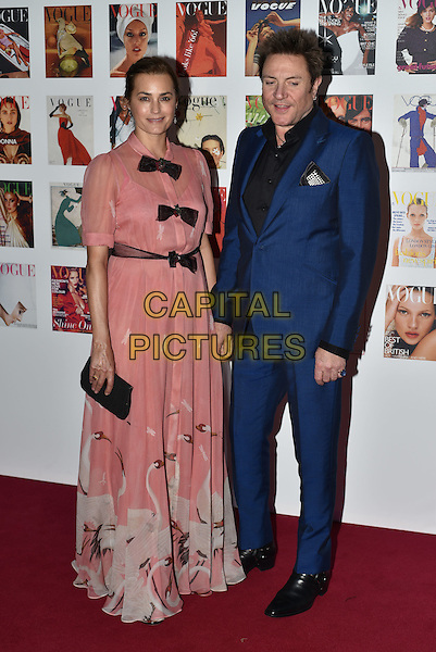 Yasmin Le Bon and Simon Le Bon at the Vogue100 anniversary gala dinner, British Vogue's centenary anniversary party, The East Albert Lawn in Kensington Gardens, Hyde Park, London, England, UK, on Monday 23 May 2016.<br /> CAP/PL<br /> &copy;PL/Capital Pictures