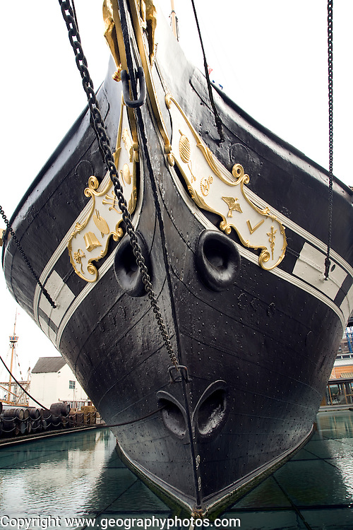 Ship's bow, SS Great Britain maritime museum, Bristol, England