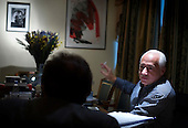 French novelist-philosopher Marek Halter meets Vladimir Spivakov, General Director of the Moscow House of Music. .Halter was born in Poland in 1936. During World War II, he and his parents escaped from the Warsaw Ghetto and fled to the Soviet Union, spending the remainder of the war in Russia and later in Kokand, Uzbekistan. In 1946 he was chosen to travel to Moscow to present flowers to Stalin...In 1948 the family returned to Poland and later, in 1950, they emigrated to France and took up residence in Paris. Halter studied pantomime under Marcel Marceau and for a time earned a living as a painter; his work was featured in several international exhibitions...Halter began writing in the 1970s. His works include The Madman and the Kings (awarded the Prix Aujourdíhui in 1976), The Messiah, The Mysteries of Jerusalem, The Book of Abraham (1986) and its sequel, The Children of Abraham (1990), The Wind of the Khazars (2003), Sarah (2004), Zipporah (2005), and Lilah (2006). In addition to his novels he is the author of The Jester And the Kings: a Political Biography (1989) and Stories of Deliverance: Speaking with Men And Women Who Rescued Jews from the Holocaust (1998)...In 1991 Halter and Andrei Sakharov organized French College in Moscow. As of now (2007) he remains the president of the college.