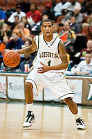 February 25, 2010:     Jacksonville guard Travis Cohn (1) during Atlantic Sun Conference action between the Jacksonville Dolphins and the Campbell Camels at Veterans Memorial Arena in Jacksonville, Florida.  Jacksonville defeated Campbell 65-52.