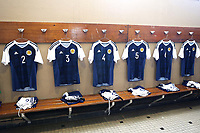 No 4 shirt of Alex Iacovitti in the dressing room prior to the arrival of the players during Czech Republic Under-20 vs Scotland Under-20, Toulon Tournament Football at Stade de Lattre-de-Tassigny on 10th June 2017