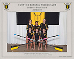 Counties Manukau  Rowing Club 2010/2011 Under 15 Boys Year 9 squad photo.