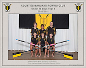 Counties Manukau  Rowing Club 2010/2011 Under 15 Boys Year 9 squad photo.