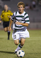 Number 8 ranked Charlotte beats number 16 ranked Coastal Carolina 1-0 on a goal by Thomas Allen in the 101st minute during the second overtime.  Kyle Parker (22)