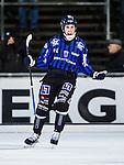Uppsala 2013-11-13 Bandy Elitserien IK Sirius - IFK Kung&auml;lv :  <br /> Sirius Klas Nordstr&ouml;m jublar efter sitt 4-3 m&aring;l<br /> (Foto: Kenta J&ouml;nsson) Nyckelord:  jubel gl&auml;dje lycka glad happy