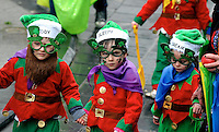 17-3-2014: Colourful children pictured taking part in the St. Patrick's Day Parade in Killarney County Kerry on Monday.<br /> Picture by Don MacMonagle