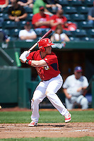 Springfield Cardinals center fielder Harrison Bader (33) at bat during a game against the Northwest Arkansas Naturals on April 27, 2016 at Hammons Field in Springfield, Missouri.  Springfield defeated Northwest Arkansas 8-1.  (Mike Janes/Four Seam Images)