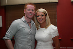 Aidan Townley and Sheryl O'Brien in Harrys....Photo NEWSFILE/Jenny Matthews.(Photo credit should read Jenny Matthews/NEWSFILE)....This Picture has been sent you under the condtions enclosed by:.Newsfile Ltd..The Studio,.Millmount Abbey,.Drogheda,.Co Meath..Ireland..Tel: +353(0)41-9871240.Fax: +353(0)41-9871260.GSM: +353(0)86-2500958.email: pictures@newsfile.ie.www.newsfile.ie.FTP: 193.120.102.198.