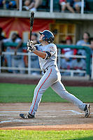 Colby Wright (43) of the Billings Mustangs at bat against the Orem Owlz in Pioneer League action at Home of the Owlz on July 25, 2016 in Orem, Utah. Orem defeated Billings 6-5. (Stephen Smith/Four Seam Images)