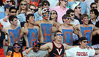 Virginia  fans during and NCAA football game at Scott Stadium in Charlottesville, VA. Clemson defeated Virginia 59-10. Photo/Andrew Shurtleff