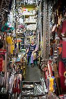 Mariana Acosta De La Torre. Hardware store owners in Mercado Hidalgo,  Mexico DF, Mexico