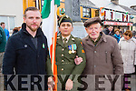 Corporal Breda O'Sullivan, Dan Joe O'Connor nephew of Patrick O'Connoor who was killled in action in 1916 and Stephen Duffy grandson of Jerimiah O'Leary  Rathmore on Sunday