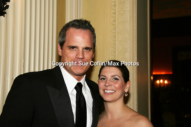 """As The World Turns' Michael Park poses with his wife Laurie attended """"When You Wish Upon A Star"""" on March 6, 2010 which benefits Child Life and Creative Arts Therapy Department, Maria Fareri Children's Hospital at Westchester Medical Center, Westchester, New York. The evening began with a cocktail reception and silent auction, a children's performance (singing) followed by dinner, dancing and more. (Photo by Sue Coflin/Max Photos)"""