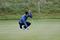 Edoardo Molinari lines up his putt on 17 during the first day at the Betfred British Masters, Hillside Golf Club, Lancashire, England. 09/05/2019.<br /> Picture David Kissman / Golffile.ie<br /> <br /> All photo usage must carry mandatory copyright credit (© Golffile | David Kissman)
