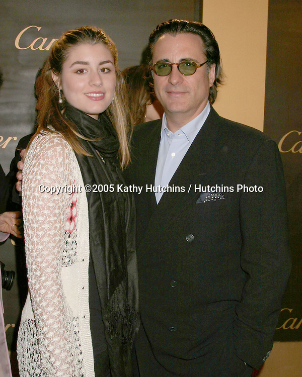 Andy Garcia and daughter.Cartier Re-Opening.Beverly Hills,  CA.May 9, 2005.©2005 Kathy Hutchins / Hutchins Photoi