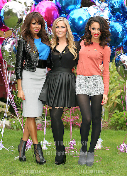 Sugababes celebrating the launch of 'BBC Children in Need POP Goes the Musical', at Kensington Roof Gardens, west London. 31/08/2011 Picture by: Alexandra Glen / Featureflash