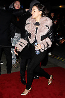 LONDON, ENGLAND - FEBRUARY 09 :  Michelle Rodriguez arrives at the Charles Finch and Chanel pre-BAFTA party at Loulou's on February 09, 2019 in London, England.<br /> CAP/AH<br /> &copy;Adam Houghton/Capital Pictures