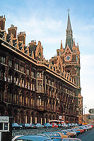 London: St. Pancras Station and Midland Grand Hotel, 1868-1873.  First London hotel with elevatiors. Photo '79.