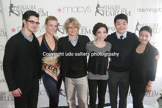 US Olympic Figure Skaters Zach Donahue, Madison Hubbell, Charlie White, Meryl Davis, Alex Shibutani and Maia Shibutani Attends The 2012 Skating with the Stars honoring Vera Wang, Ellen Lowey, and Rhonda Ross: A benefit gala for Figure Skating in Harlem, NY  4/2/12