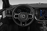 Car pictures of steering wheel view of a 2019 Volvo S60 R-Design 4 Door Sedan