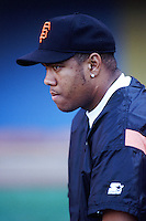 Livan Hernandez of the San Francisco Giants before a 1999 Major League Baseball season game against the Los Angeles Dodgers at Dodger Stadium in Los Angeles, California. (Larry Goren/Four Seam Images)