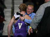 Ian Paddock (V) and Kyle Dake (IV) square off in the NY State Division Two finals at the 130 weight class during the NY State Wrestling Championship finals at Blue Cross Arena on March 9, 2009 in Rochester, New York.  (Copyright Mike Janes Photography)