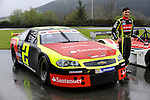 Ander Vilarino car racing driver has presented his car for the European official NASCAR Championship 2014 in the circuit of Olaberria on March 26, 2014, Basque Country. On March 27, Ander Vilarino will begin with trainings in Nogaro Circuit, France. (Ander Gillenea / Bostok Photo)