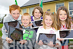 Pupils from Shrone NS, Rathmore who will be using Ipads this year in the education l-r: Donagh Fitzgerald, Niall Lenihan, Niamh McSherry, Orla Cremin and Aoife Cremin....