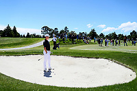 Daniel Hillier during the New Zealand Amateur Golf Championship final against Tom Parker at Russley Golf Course, Christchurch, New Zealand. Sunday 5 November 2017. Photo: Simon Watts/www.bwmedia.co.nz