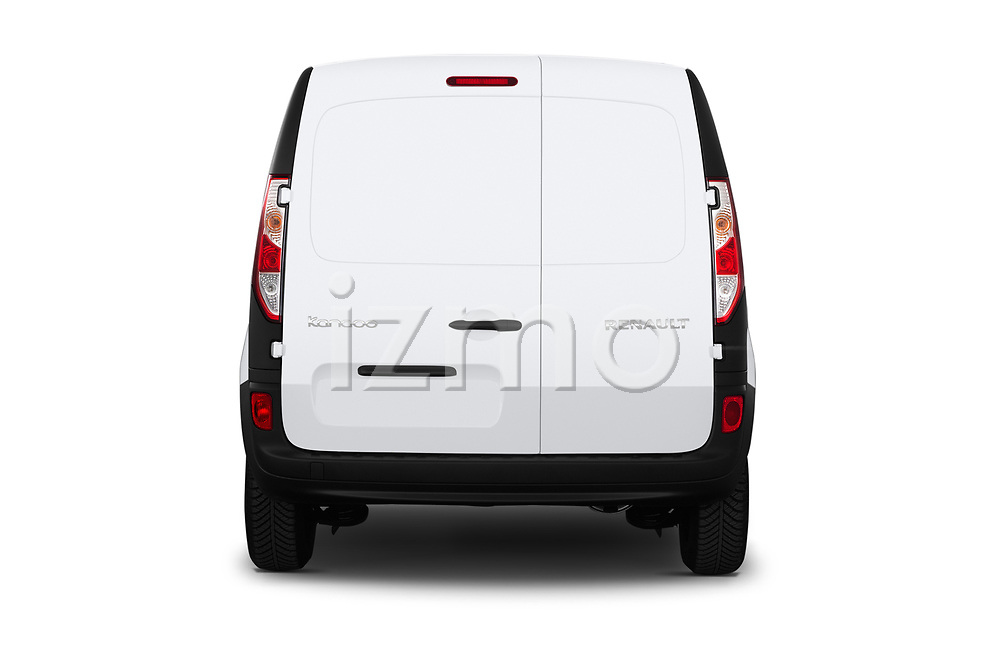 Straight rear view of a 2019 Renault Kangoo Energy Extra 4 Door Car van stock images