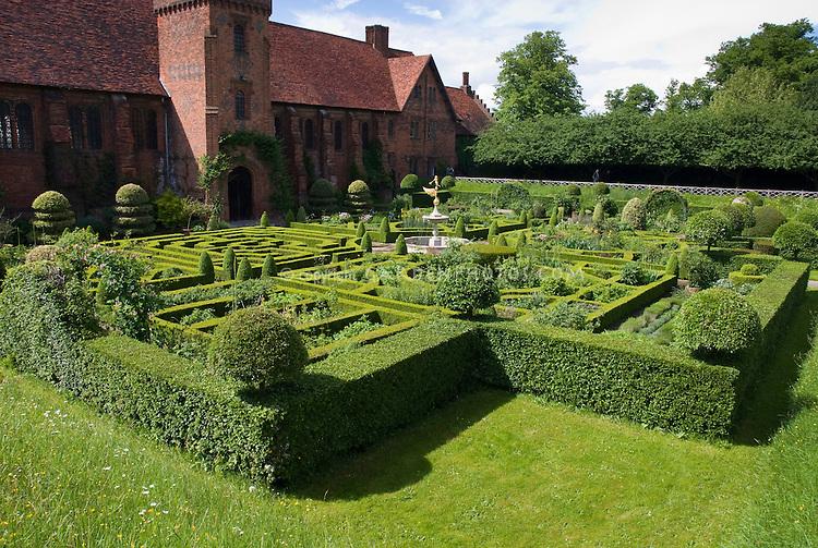 Hatfield House Maze Knot Garden, England