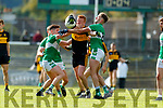 Johnny Buckley Dr Crokes in action against Danny Sheahan and Billy McGuire Legion in the Quarter Final of the Kerry Senior Football Championship between Dr Crokes and Legion at Fitzgerald Stadium Killarney on Sunday.