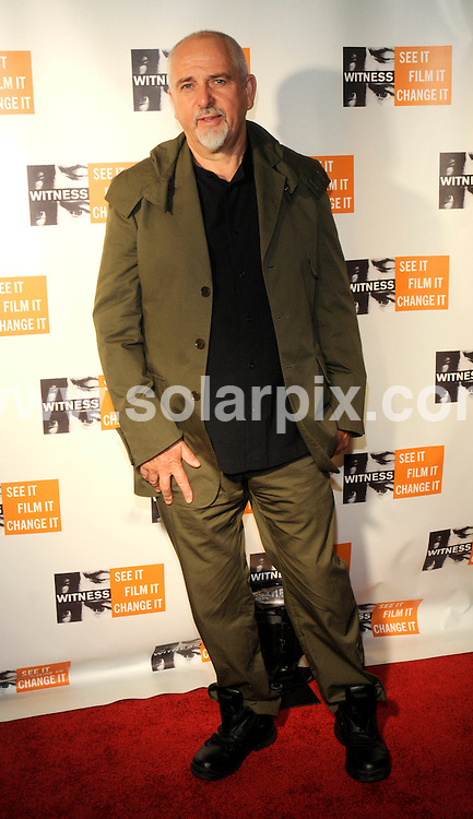 "**ALL ROUND PICTURES FROM SOLARPIX.COM**.**SYNDICATION RIGHTS FOR UK, SPAIN, PORTUGAL, AUSTRALIA, S.AFRICA & DUBAI (U.A.E) ONLY**.The musician Peter Gabriel Hosts Fourth Annual ""Focus for Change Witness"" Benefit at the Roseland Ballroom in New York City in the USA. .This pic:Peter Gabriel..JOB REF:7975-PHZ/Mark Dye   DATE:20-11- 08.**MUST CREDIT SOLARPIX.COM OR DOUBLE FEE WILL BE CHARGED* *UNDER NO CIRCUMSTANCES IS THIS IMAGE TO BE REPRODUCED FOR ANY ONLINE EDITION WITHOUT PRIOR PERMISSION*"