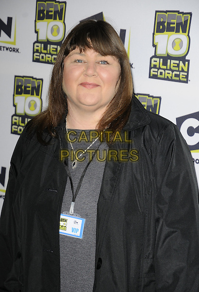 "CHERYL FERGISON.The ""Ben 10: Alien Force"" VIP premiere, Old Billingsgate Market, Old Billingsgate Walk, London, England..February 15th, 2009.half length ferguson grey gray top jacket mac.CAP/CAN.©Can Nguyen/Capital Pictures."