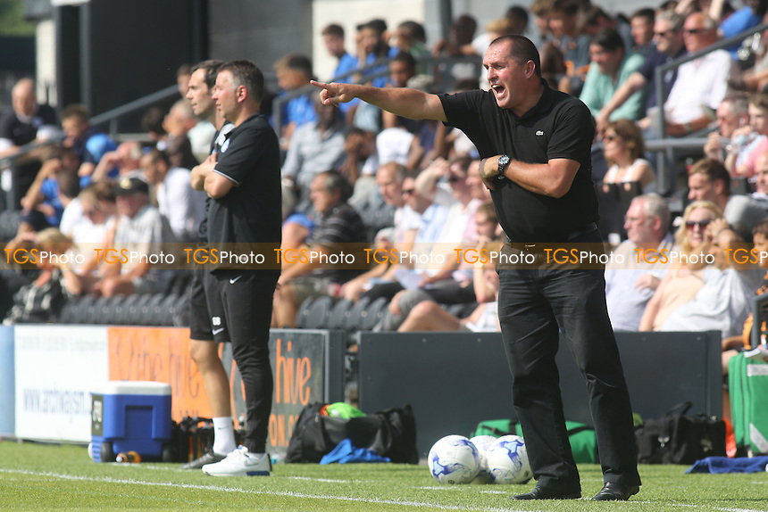 Barnet Manager, Martin Allen, makes a point during the pre-season friendly against Peterborough - Barnet vs Peterborough United - Pre-Season Friendly Football Match at The Hive Stadium, Camrose Avenue, Edgware, London - 12/07/14 - MANDATORY CREDIT: Paul Dennis/TGSPHOTO - Self billing applies where appropriate - contact@tgsphoto.co.uk - NO UNPAID USE