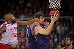 League ACB-ENDESA 2017/2018 - Game: 20.<br /> FC Barcelona Lassa vs Retabet Bilbao Basket: 90-58.<br /> Mickell Gladness vs Ante Tomic.