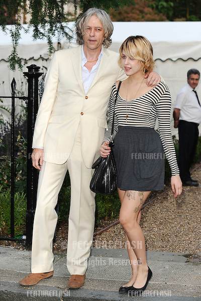 Sir Bob Geldof and daughter, Peaches arriving for the Sir David Frost Summer Party, Chelsea, London on 02/07/2009. Steve Vas / Featureflash